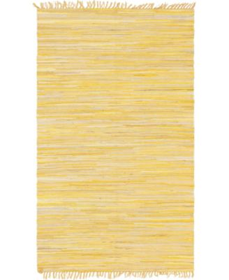 Jari Striped Jar1 Yellow 5' x 8' Area Rug