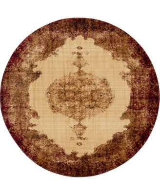 Thule Thu2 Red 8' x 8' Round Area Rug