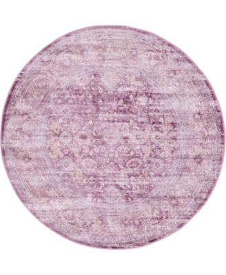 Anika Ani2 Violet 6' x 6' Round Area Rug