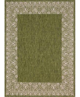 """Pashio Pas7 Green 8' x 11' 4"""" Area Rug"""