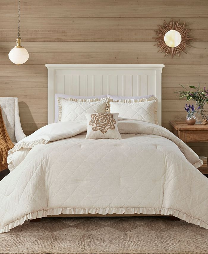 Madison Park - Phoebe Full/Queen 4 Piece Quilted Comforter Set