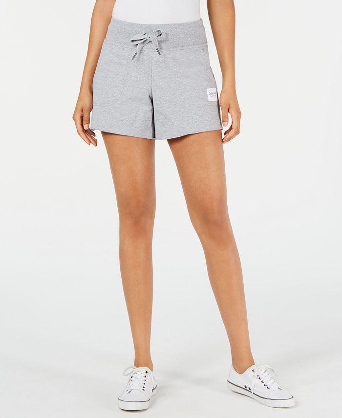 Calvin Klein - Ribbed-Waist Raw-Hem Shorts