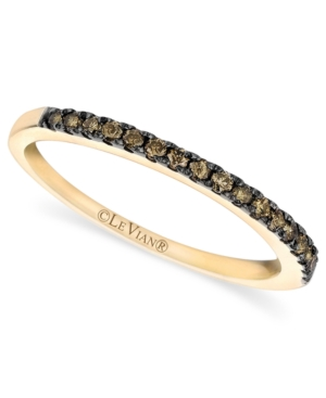 Le Vian 14k Gold Ring, Pave Champagne Diamond Band (1/4 ct. t.w.)