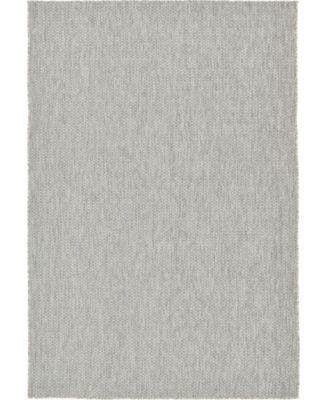 Pashio Pas6 Light Gray 6' x 9' Area Rug