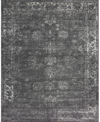 Basha Bas1 Dark Gray 8' x 11' Area Rug
