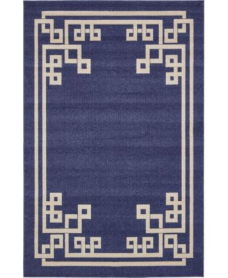 Anzu Anz3 Navy Blue 6' x 9' Area Rug