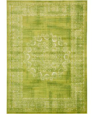 """Linport Lin5 Light Green 8' x 11' 6"""" Area Rug"""