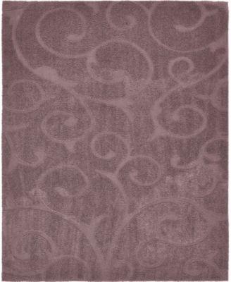 Malloway Shag Mal1 Violet 8' x 10' Area Rug