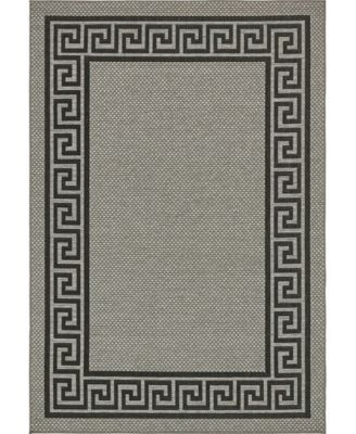 Pashio Pas6 Gray 6' x 9' Area Rug