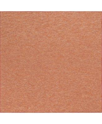 "Pashio Pas8 Terracotta 10' 2"" x 10' 3"" Square Area Rug"