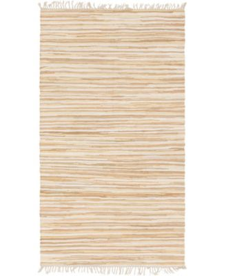 Jari Striped Jar1 Tan 5' x 8' Area Rug