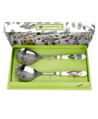 Portmeirion Dinnerware, Botanic Garden Boxed Salad Servers