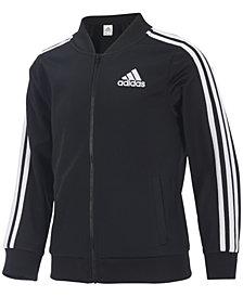 adidas Big Girls Zip Front Tricot Bomber Jacket