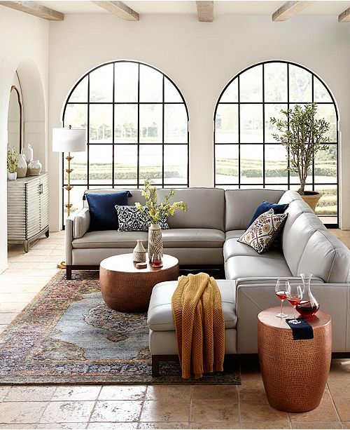 Furniture Virton Leather Sofa Collection, Created For Macy