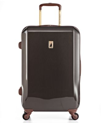 London Fog Suitcase 24 Windsor Rolling Spinner Hardside Upright