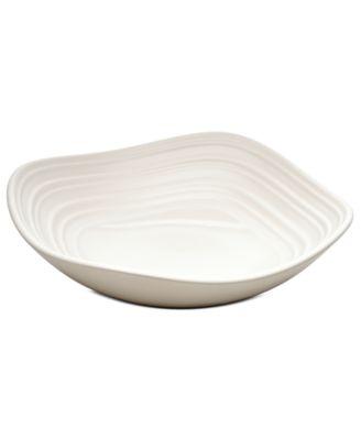 Mikasa Dinnerware, Swirl Square White Fruit Bowl