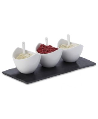 Maxwell & Williams Serveware, White Basics Slate 7 Piece Dip Set