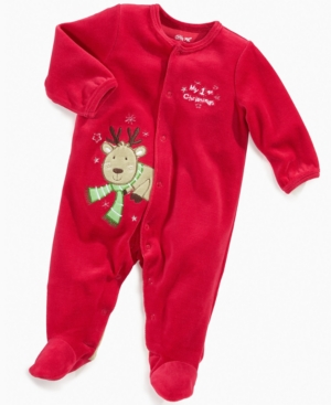 Little Me Baby Coverall, Baby Boys My First Christmas Velour Footie