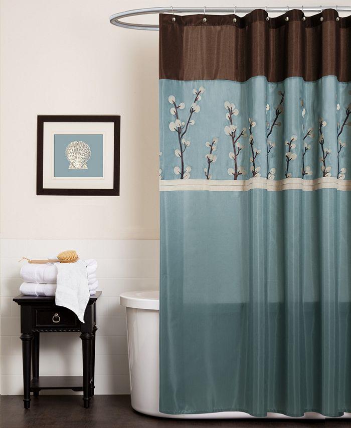 "Lush Décor - Cocoa Flower 72"" x 72"" Shower Curtain"