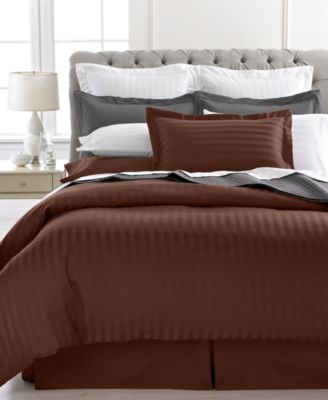 CLOSEOUT! Charter Club Damask Stripe 500 Thread Count King Duvet Cover