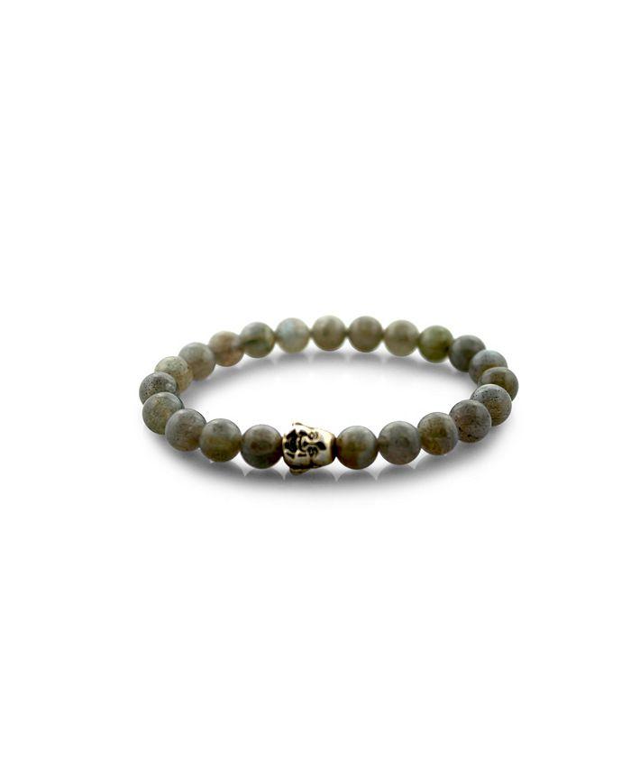 Macy's - Beaded Stretch Bracelet Labradorite
