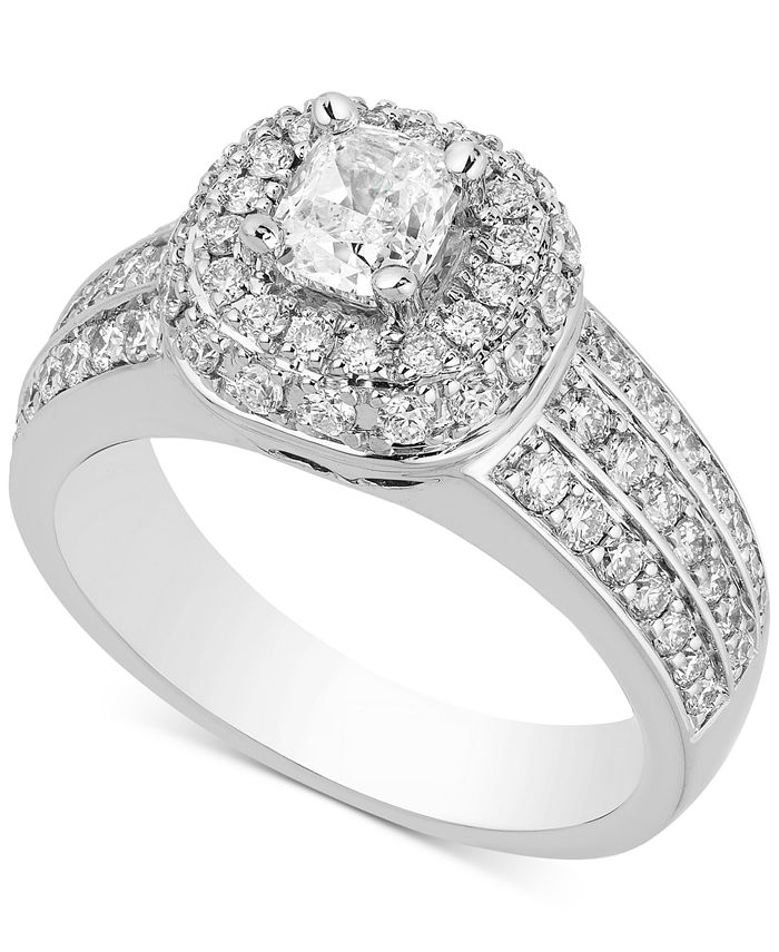 Macy's - Diamond Multi-Halo Engagement Ring (1-3/4 ct. t.w.) in 14k White Gold