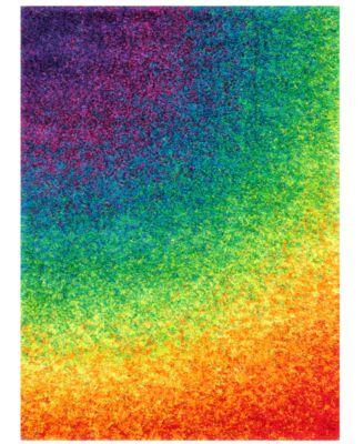 """Loloi Area Rug, Barcelona Shag BS01 Rainbow 5'2"""" x 7'7"""""""