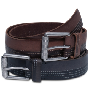 Timberland Belts Harness Leather with Stitch Detail Belt