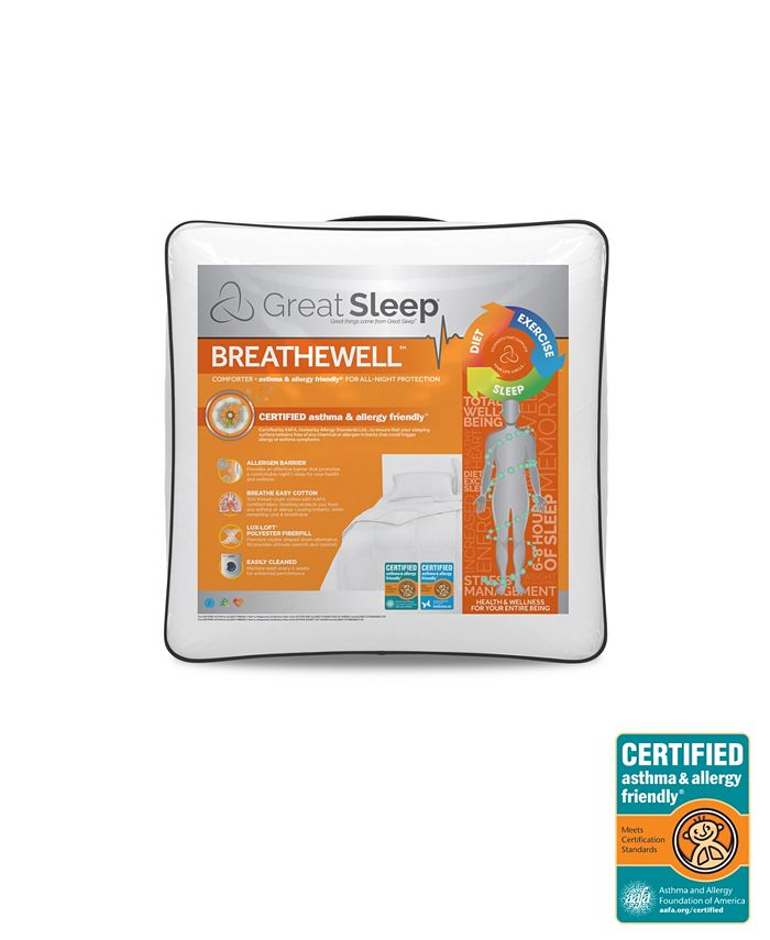 Great Sleep - BREATHEWELL CERTIFIED asthma & allergy friendly Comforter
