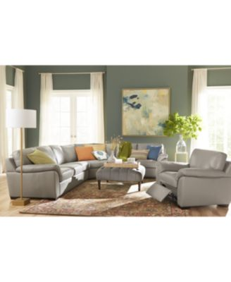 Lothan 4-Pc. Leather Sectional Sofa, Created for Macy's