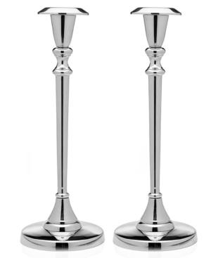 """godinger candle holders, set of 2 tulip shape candlesticks 12"""""""