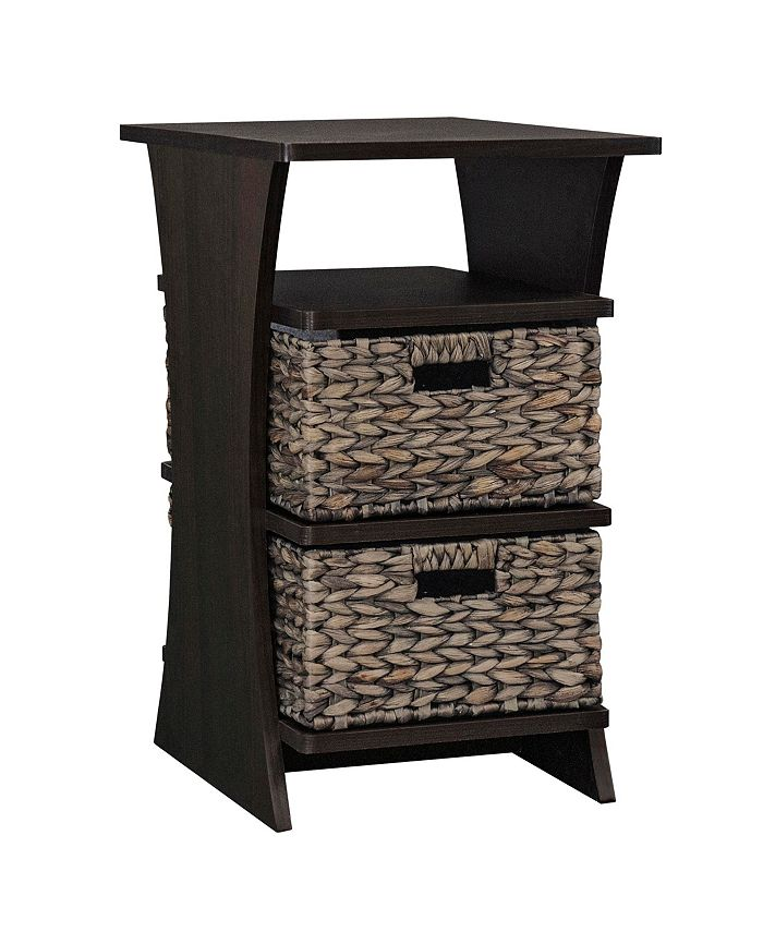 Gallerie Décor - All in One Side Table with Storage Basket, Quick Ship