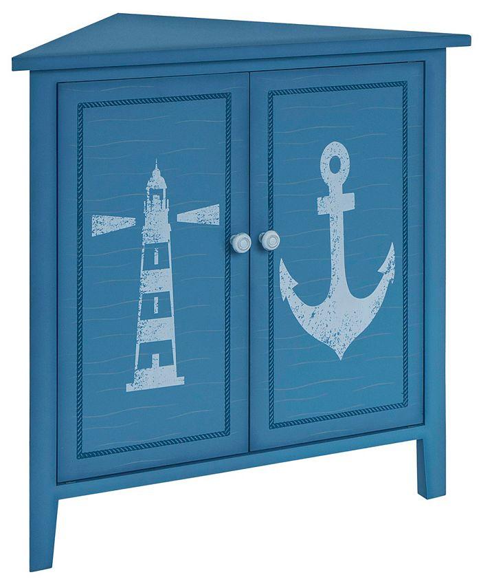 Gallerie Décor - Oceana Corner Cabinet, Quick Ship