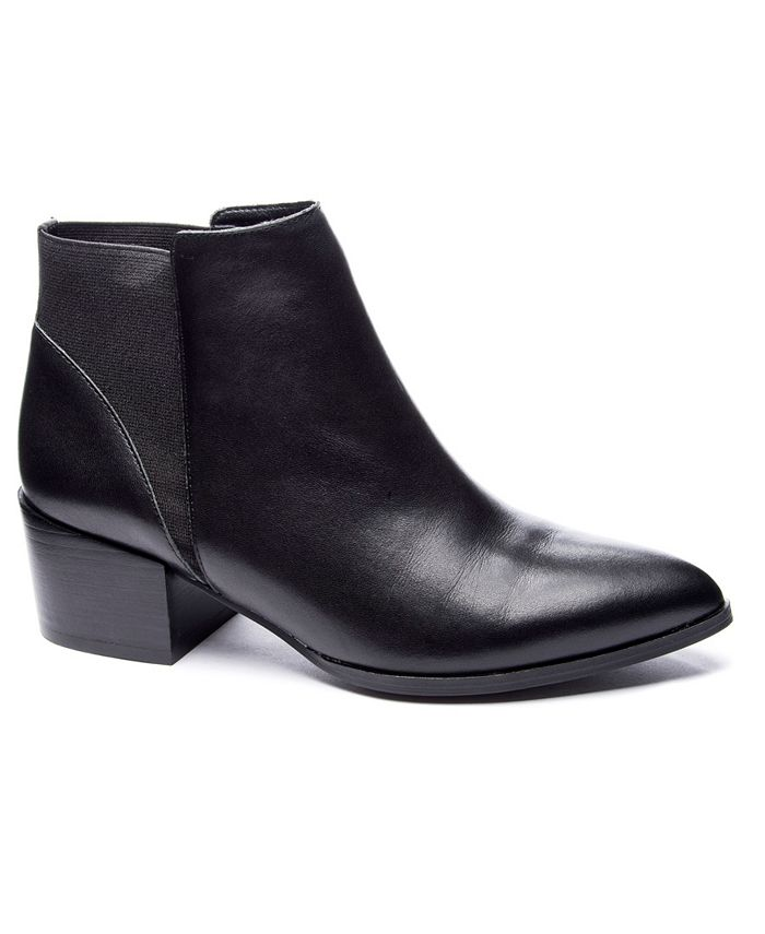 Chinese Laundry - Finn Black Suede Chelsea Bootie