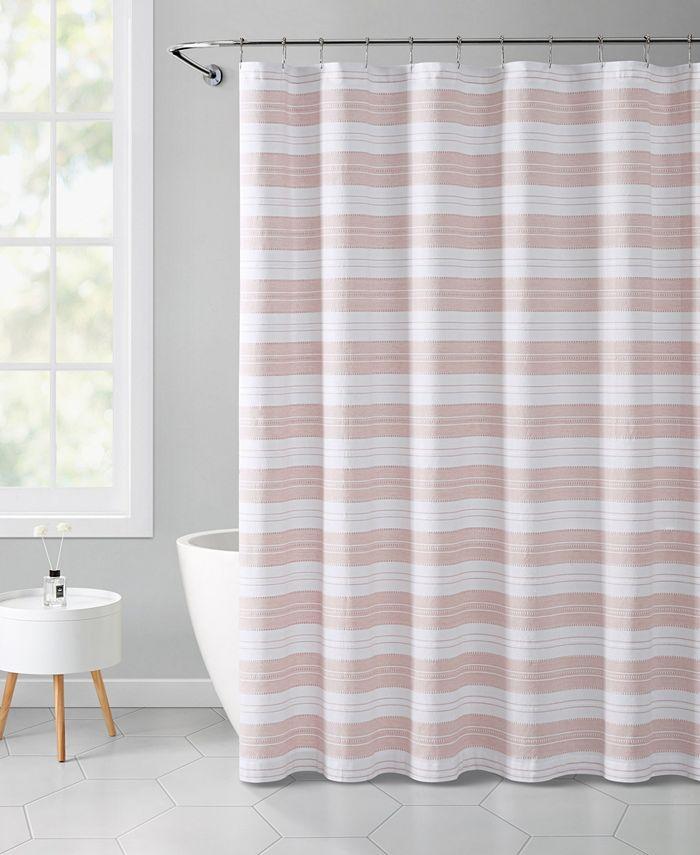 "VCNY Home - Stripe Eyelet 72"" x 72"" Shower Curtain"