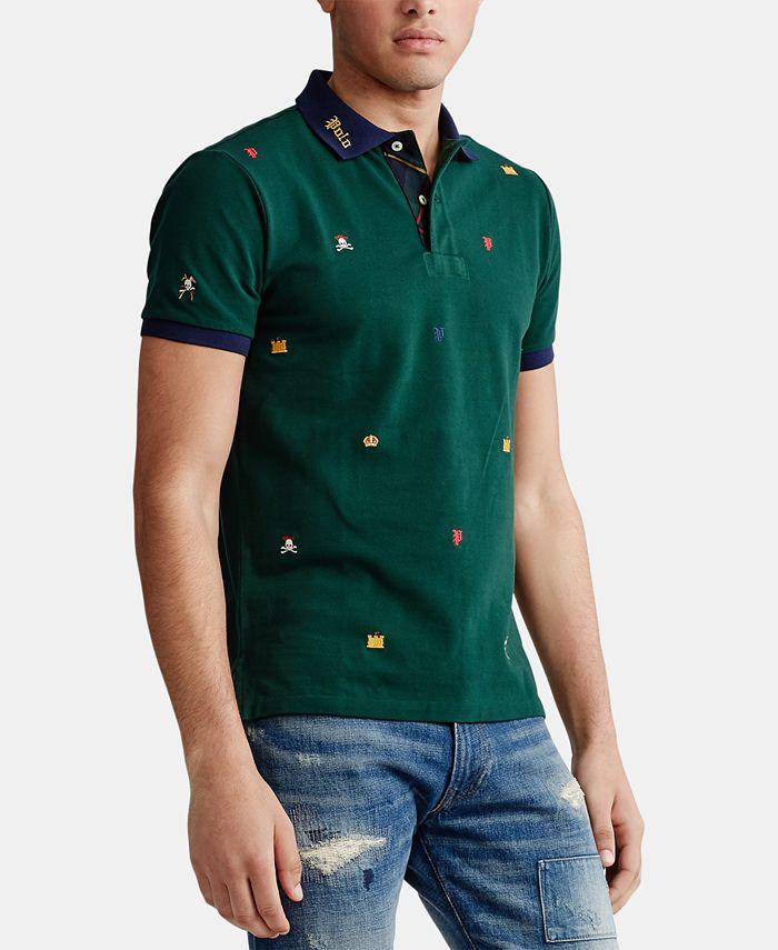 Polo Ralph Lauren Men's Custom Fit Mesh Polo Shirt & Reviews ...