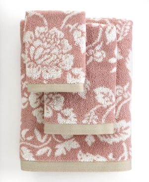"bianca bath towels, aquarelle rose 16"" x 28"" hand towel"