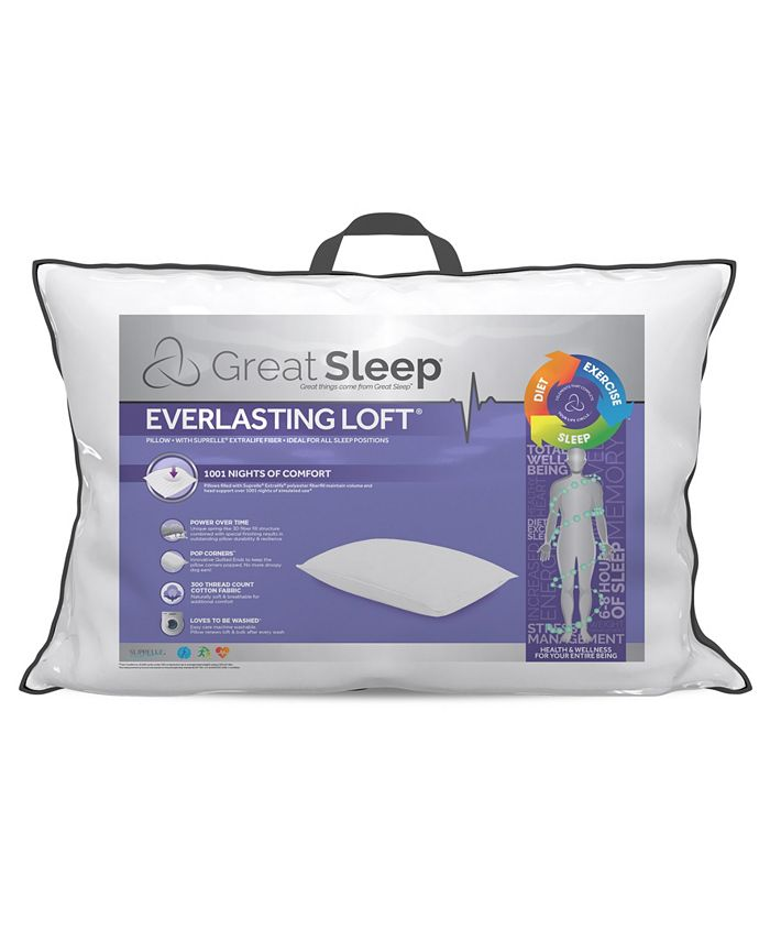 Great Sleep - Everlasting Loft with Suprelle® ExtraLife Fiber Jumbo Pillow