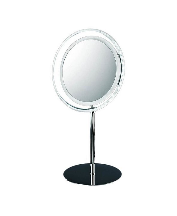 WS Bath Collections Free Standing Lighted Magnifying Mirror Collection