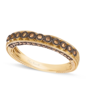 Le Vian Champagne Diamond Wedding Band (1/4 c. t.w.) in 14k Gold