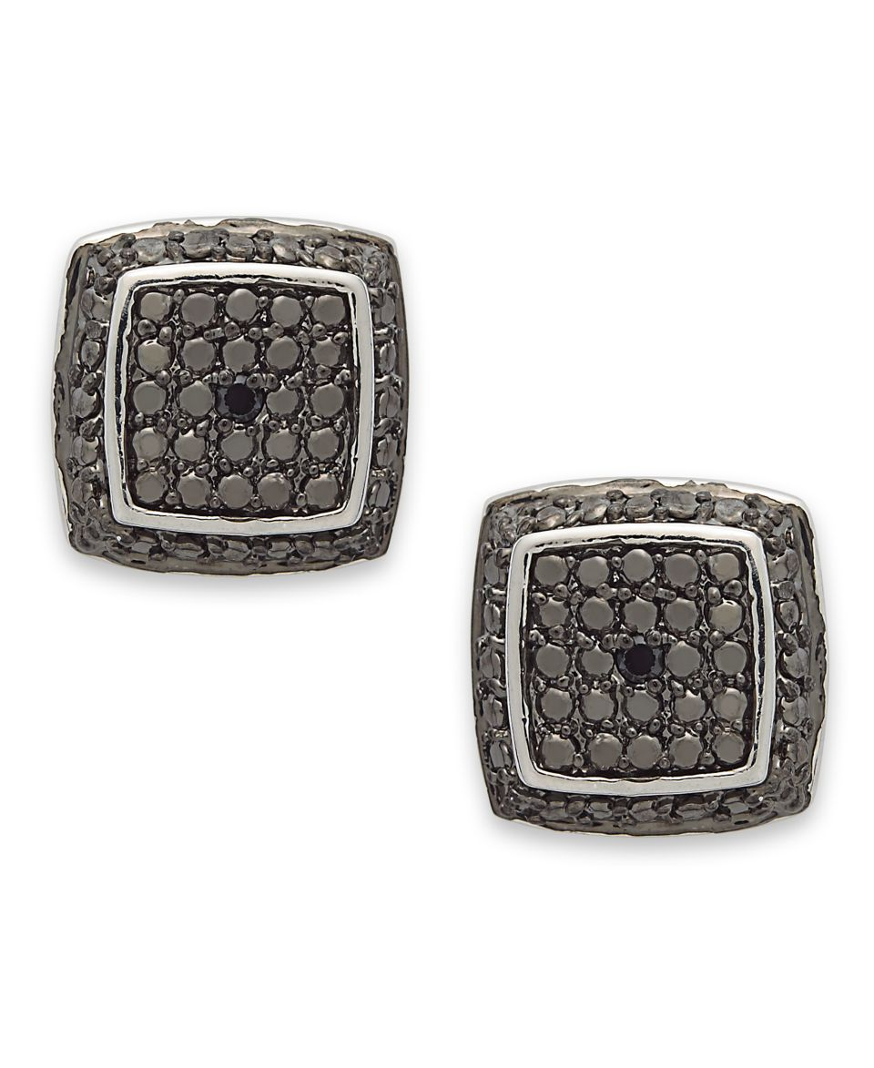 Victoria Townsend Sterling Silver Earrings, Black Diamond Accent