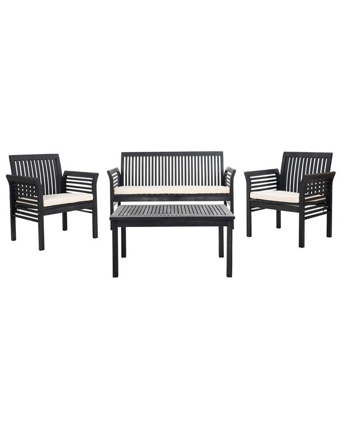 Safavieh - Carson 4pc Outdoor Seat Set, Quick Ship