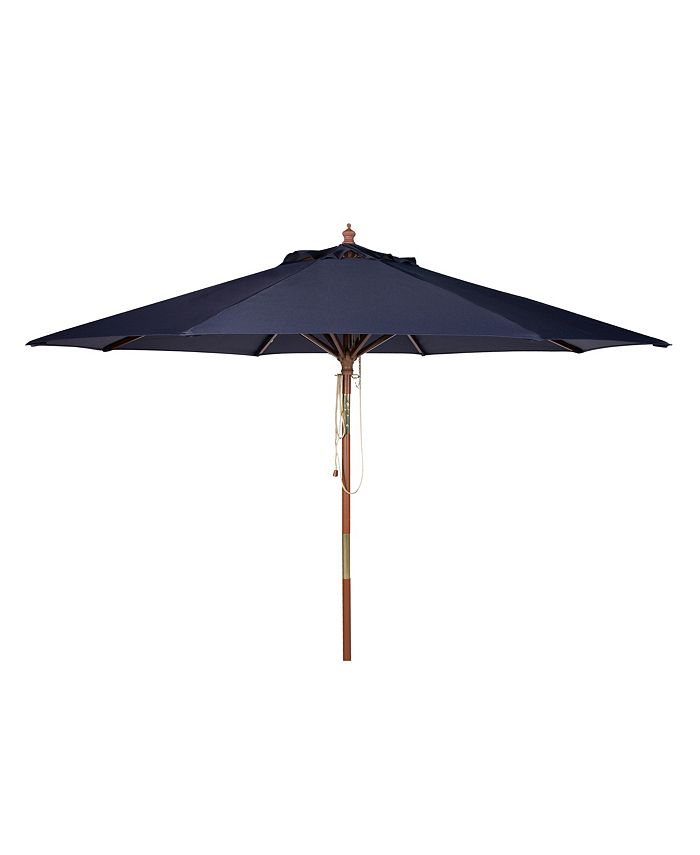 Safavieh - Cannes 9' Wooden Umbrella, Quick Ship