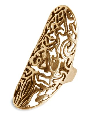 Lucky brand ring gold tone openwork long ring for Macy s lucky brand jewelry