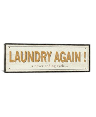 """Laundry Again! by Pela Studio Gallery-Wrapped Canvas Print - 12"""" x 36"""" x 0.75"""""""