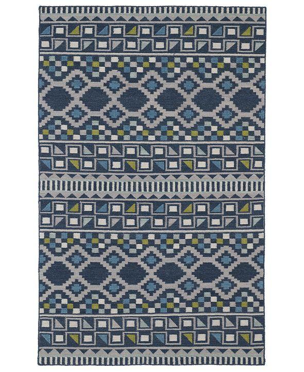 Kaleen Nomad NOM08-17 Blue 8' x 10' Area Rug