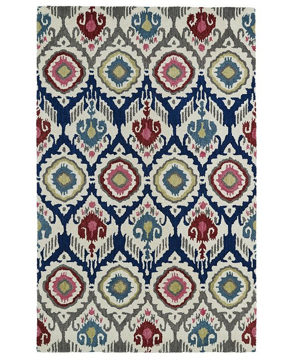 "Kaleen Global Inspirations GLB04-86 Multi 3'6"" x 5'6"" Area Rug"