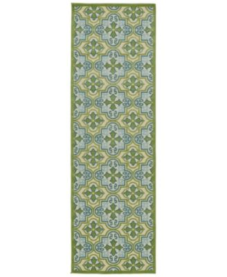 "A Breath of Fresh Air FSR104-50 Green 2'6"" x 7'10"" Runner Rug"
