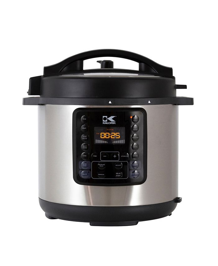 Kalorik - 6QT 10-in-1 Multi Use Pressure Cooker, Stainless Steel