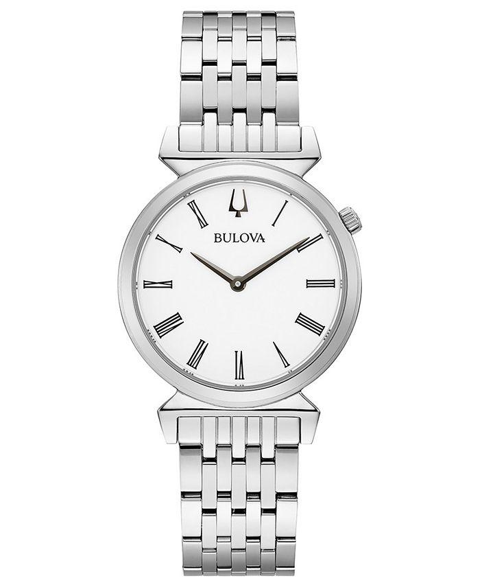 Bulova - Women's Regatta Stainless Steel Bracelet Watch 30mm